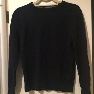 Navy wool sweater